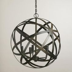 One of my favorite discoveries at WorldMarket.com: Metal Orb Chandelier