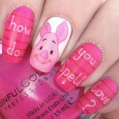 piglet by practise_makes_perfect #nail #nails #nailart