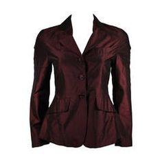 Romeo G Gigli Iridescent Burgundy Three button Evening Jacket size 38