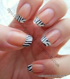 Polish and Powder: French Zebra