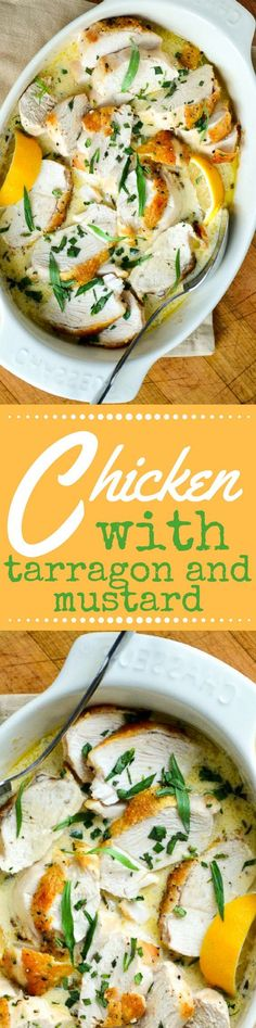 Roast Chicken Breasts with Tarragon and Mustard Sauce is a quick and easy meal redolent with the flavors of the Mediterranean. ~ http://theviewfromgreatisland.com