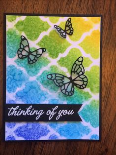 Butterfly+Stencil+Card - Scrapbook.com