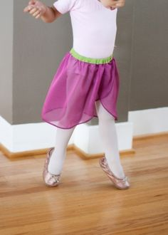 tutorial for sewing a dance skirt for ballet--no pattern needed!