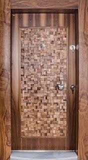 Top 40 Modern Wooden Door Designs for Home 2018 Modern Wooden Doors, Modern Front Door, Wooden Door Design, Main Door Design, Front Doors, Cool Doors, Unique Doors, Flush Doors, Windows And Doors