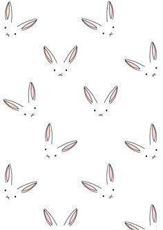 bunny pattern | Serie Las Orejas