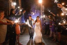 Erin & Scott's Brooklyn Arts Center Wedding #sparklers #sparklerexit #weddingvenue