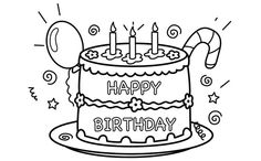 25 Amazing Happy Birthday Coloring Pages Your Toddler Will Love