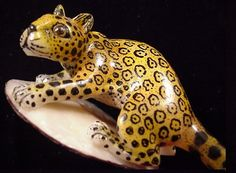 Wounaan Indian Jaguar Tagua Carving-Panama 21530