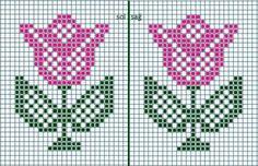 Bu Desenden Havlu Kenarı işledim Cross Stitch Patterns Free Easy, Cross Stitch Borders, Cross Stitch Flowers, Cross Stitch Kits, Cross Stitching, Beaded Cross Stitch, Cross Stitch Embroidery, Embroidery Patterns, Crochet Patterns