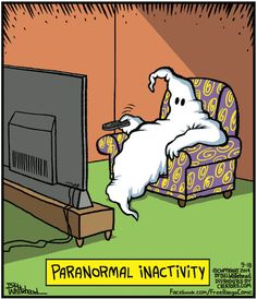 """livingnowisliving: """" Kelly S saved to Laughs: Halloween Edition Paranormal Inactivity Funny Cartoons, Funny Comics, Funny Jokes, Hilarious, Funny Gifs, Halloween Cartoons, Halloween Fun, Halloween Humor, Halloween Signs"""