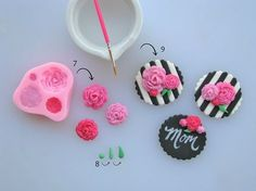 Sweet 16 Cupcakes, Mothers Day Cupcakes, Mothers Day Cake, Valentine Cupcakes, Happy Mothers, Mother's Day Cookies, Cupcake Cookies, Floral Cupcakes, Pink Cupcakes