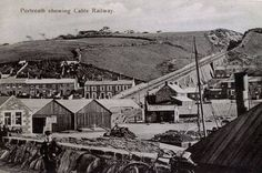 Cable Railway & incline, Portreath, Cornwall, SW UK.
