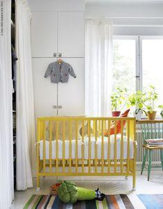 lovely yellow crib