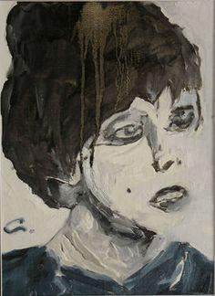 "Saatchi Online Artist Giorgi Chxeo; Painting, ""Edie Sedgwick (Girl on drugs)"