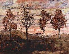 https://flic.kr/p/6f9zXq | egon schiele. Vier Bäume. 1917