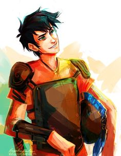 One of my favorite fanarts. Day #2: Favorite demigod. Is this a question? Percy. If not him, then Annabeth because....Annabeth.