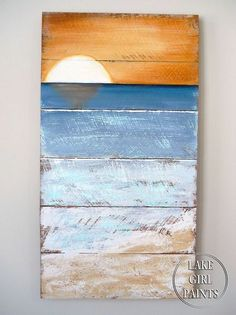 how to paint beach art, crafts, home decor, painting