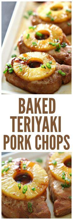 Baked Teriyaki Pork Chops on SixSistersStuff.com | Healthy Summer Dinner Recipes