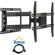 """@.com Full Motion Wall Mount for 19"""" to 80"""" TVs with Tilt and Swivel Articulating Arm and HDMI Cable - Walmart.com"""