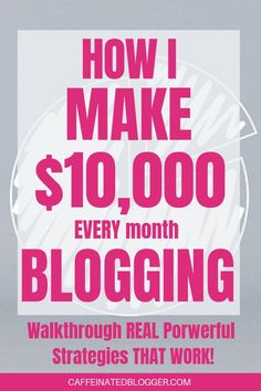 How To Make Money Blogging: The Ultimate Beginners Guide. In this video I will show you how I make $10K plus a month blogging. I will walk you through step-by-step my most powerful strategies and show you how you can use them to make money blogging.