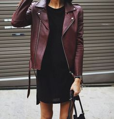 How to wear a black leather jacket, 30 mejores trajes Looks Street Style, Looks Style, Look Fashion, Street Fashion, Womens Fashion, Dress Fashion, Net Fashion, Fashion Clothes, Paris Fashion