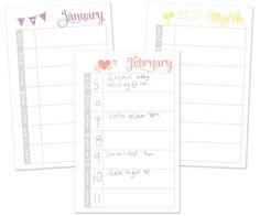 Cute calendar printables for my planner