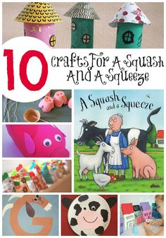 Be inspired to try some fun A Squash and a Squeeze crafts and activities. Perfect for fans of Julia Donaldson!