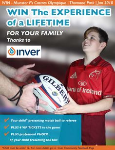 Win A One Off Experience of a lifetime For Your Family When Munster Take on Castres Olympique