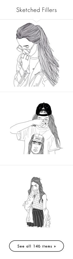 """Sketched Fillers"" by bluebirdi ❤ liked on Polyvore featuring fillers, drawings, doodles, outlines, art, backgrounds, text, quotes, magazine and phrase"