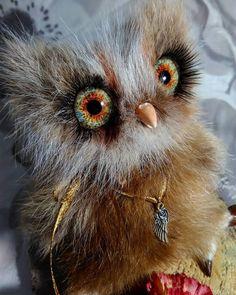 Anna Magic Owl Flower (@magic.owl) в Instagram: «  Совушка Далия выполнена на заказ из эксклюзивного меха молодого оленя, глазки стекло ручной работы, лепка холодного фарфора. Заказать игрушку вы можете на сайте vk.com/magic.owl.flower   или ok.ru/magic.owl »
