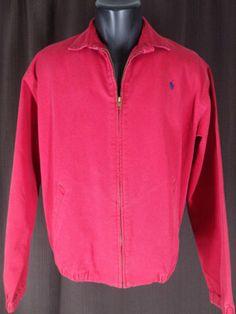 e8052398d86 Polo Ralph Lauren Red Full Zip Jacket Polo Ralph Lauren