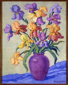 Birger Sandzen - Iris, oil on canvas, American Impressionism, , American, Southwest, None