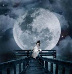 paisajes de noche con estrellas fugaces y luna con movimiento - Buscar con Google