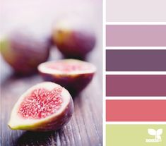 produced palette by design seeds. Bedroom Color Schemes, Colour Schemes, Bedroom Colors, Color Combos, Color Patterns, Bedroom Green, Colour Pallette, Color Palate, Purple Palette