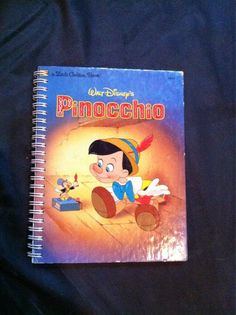 Pinocchio Blank Book by Merrittorious on Etsy, $10.00