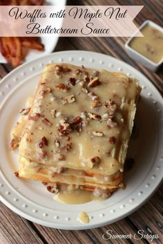 Looking for a delicious sauce to go on your waffles? This maple buttercream sauce is delicious! You will be surprised how quick you can make it just in the few minutes right before serving your waffles.