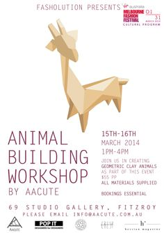 fbcb1489294 Pop Up Shops · Can t keep this one a secret!! WORKSHOP  ANIMAL BUILDING  WORKSHOP BY