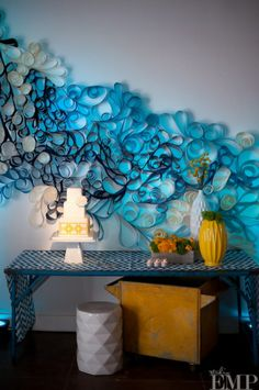 Large scale quilling for dramatic backdrop
