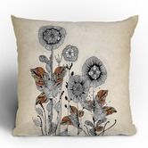 "Iveta Abolina Floral 3 Throw Pillow from wayfair.com 16""X16"" $39.00"