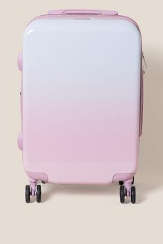 The CALPAK Brynn Carry-On Luggage features an ombre design. Teen Luggage, Cute Luggage, Carry On Luggage, Travel Luggage, Travel Bags, Ciara And I, Cute Suitcases, Gold Everything, Baby Girl Swimsuit