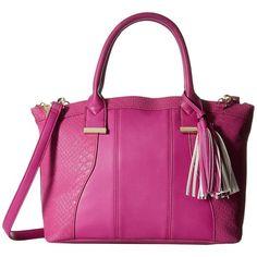 Steve Madden Bmeredith (Fuchsia) Handbags ($37) ❤ liked on Polyvore featuring bags, handbags, pink, pink hand bags, tassel handbag, steve madden handbags, pink handbags and fuschia handbag
