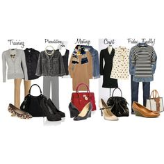 Work Week Outfits, created by cupkatesmom on Polyvore