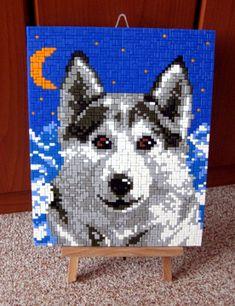 Arktisowlf Wolf, Hama Beads, Cross Stitch, Flag, Seasons, Kids, Crafts, Decor, Painted Canvas