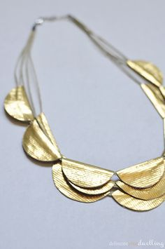 Gold Duck Tape Necklace, Delineate Your Dwelling #knockoff #anthropologie