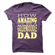 How amazing to be a Goldendoodle Dad T-Shirts, Hoodies. VIEW DETAIL ==► https://www.sunfrog.com/Pets/How-amazing-to-be-a-Goldendoodle-Dad-Purple-42027128-Guys.html?id=41382