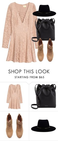 """""""Untitled #6029"""" by laurenmboot ❤ liked on Polyvore featuring H&M, Mansur Gavriel and Zimmermann"""