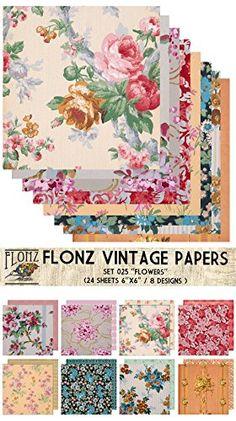 "Paper Pack (24sh 6""x6"") Flower Bouquet FLONZ Vintage Paper for Scrapbooking and Craft Flonz http://www.amazon.com/dp/B00NYL809K/ref=cm_sw_r_pi_dp_-9s2ub1HHJ5DH"