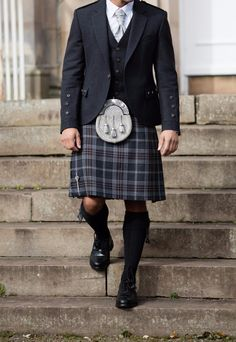 Our exclusive Oban Mist tartan is understated and versatile. The combination of grey and brown tones in the design make the kilt compatible with a whole range of accessories and jackets to suit your wedding theme