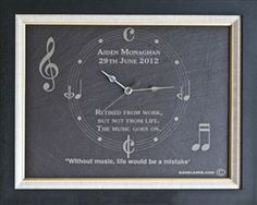 Music themed clock - ideal gift for music lovers