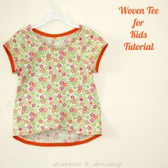 Siestas and Sewing: Woven Tee for Kids Tutorial